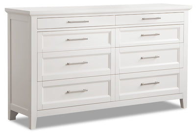 Citadel Dresser - Dove White - {Traditional} style Dresser in Dove White {Solid Hardwoods}, {Birch}