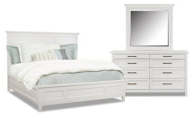 Citadel 5-Piece King Bedroom Package - Dove White