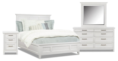 Citadel 6-Piece Queen Bedroom Package - Dove White|Ensemble de chambre à coucher Citadel 6 pièces avec grand lit - blanc colombe|CITAWQP6