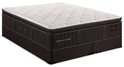 Stearns & Foster Founders Collection Commonwealth Pillowtop Split Queen Mattress Set|Ensemble plateau-coussin divisé Commonwealth, collection Founders de Stearns & Foster pour grand lit|CMNWTSQP