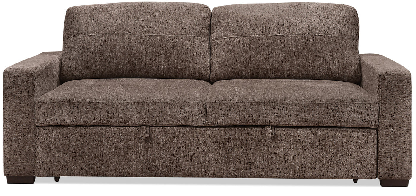 Swell Conor Chenille Full Size Sleeper Sofa Espresso Brown Squirreltailoven Fun Painted Chair Ideas Images Squirreltailovenorg