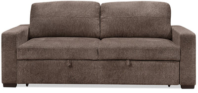 Conor Chenille Full-Size Sleeper Sofa – Espresso Brown - Modern style Sleeper Sofa in Espresso