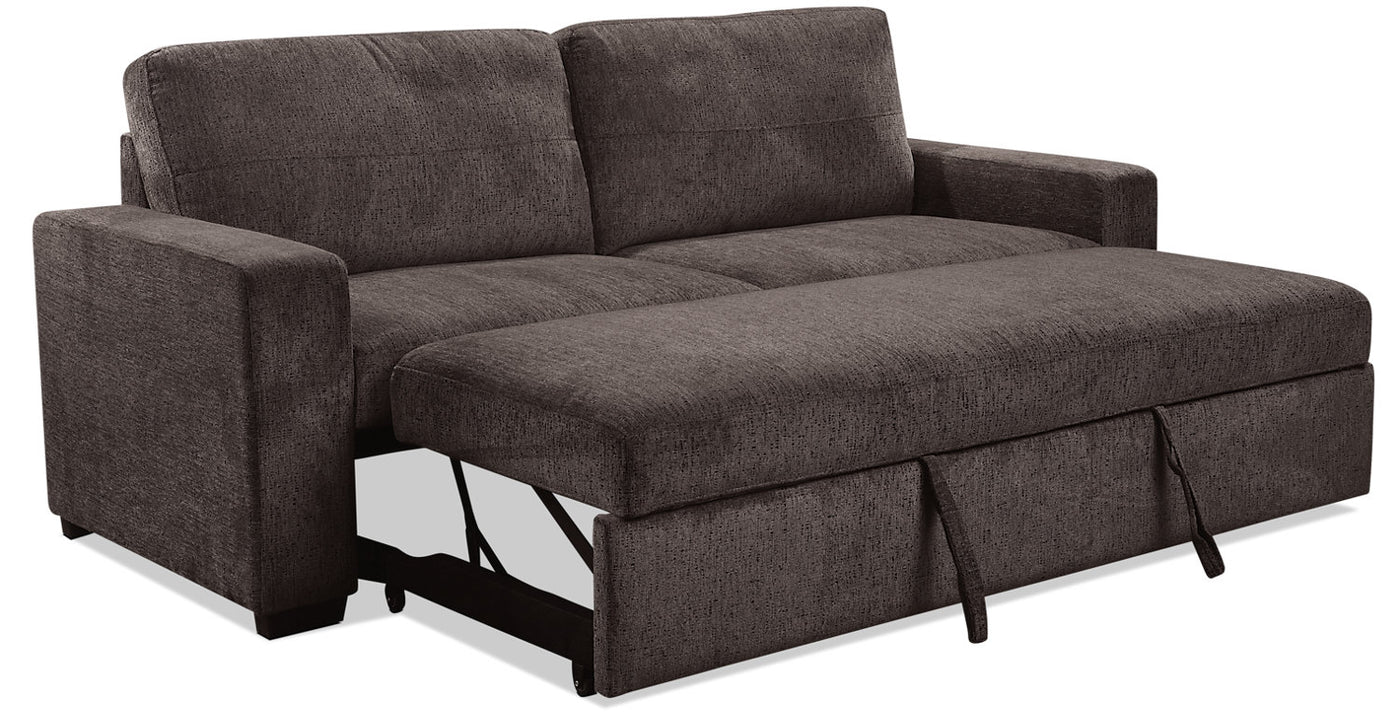 Pleasant Conor Chenille Full Size Sleeper Sofa Ebony Onthecornerstone Fun Painted Chair Ideas Images Onthecornerstoneorg