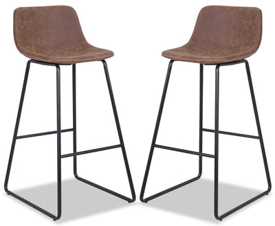 Coty Barstool, Set of 2 - Brown - {Modern} style Bar Stool in Brown {Metal}