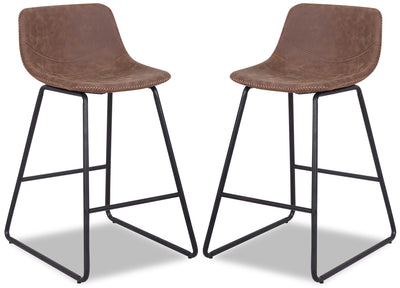 Coty Counter-Height Chair, Set of 2 - Brown|Chaise Coty de hauteur comptoir, ensemble de 2 - brune|COTYCCSP