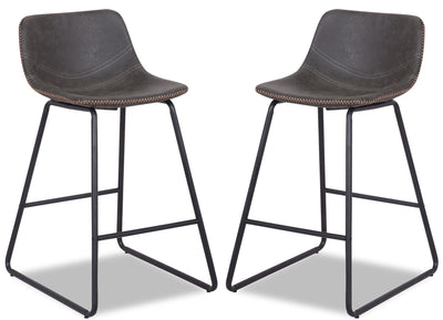 Coty Counter-Height Chair, Set of 2 - Grey - {Modern} style Bar Stool in Grey {Metal}