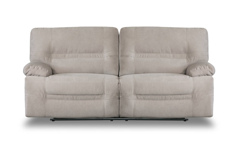 Crew Faux Suede Reclining Sofa - Granite Beige|Sofa inclinable Crew en suédine - beige granite