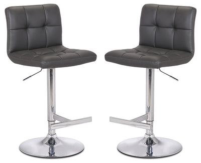 Cruz Grey Bar Stool, Set of 2|Tabouret bar Cruz gris, ensemble de 2|CRUZGBSP