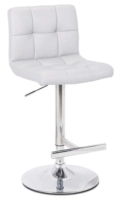 Cruz White Bar Stool - {Contemporary} style Bar Stool in White {Metal}