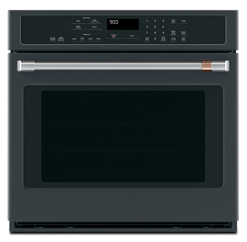 "Café 30"" 5.0 Cu. Ft. Single Wall Oven with Convection - CTS90DP3MD1 - Electric Wall Oven in Matte Black"