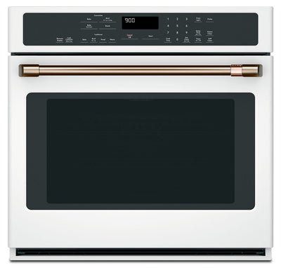 "Café 30"" 5.0 Cu. Ft. Single Wall Oven with Convection - CTS90DP4MW2 - Electric Wall Oven in Matte White"