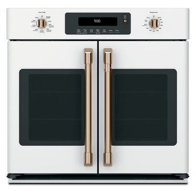 Café 5.0 Cu.Ft. French-Door Single Wall Oven with Convection - CTS90FP4MW2|Four mural simple Café de 5,0 pi3 à porte françaises à convection - CTS90FP4MW2|CTS90FMW