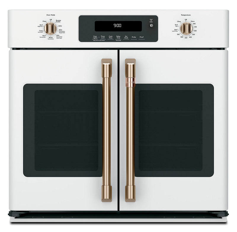 Café 5.0 Cu.Ft. French-Door Single Wall Oven with Convection - CTS90FP4MW2|Four mural simple Café de 5,0 pi3 à porte françaises à convection - CTS90FP4MW2