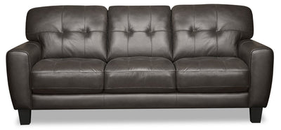 Curt Genuine Leather Sofa - Grey|Sofa Curt en cuir véritable - gris|CURTGYSF