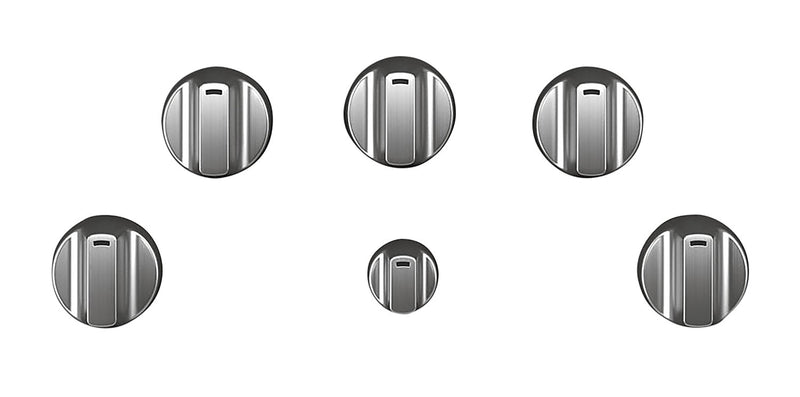 Café 5-Piece Electric Cooktop Stainless Steel Knobs - CXCE1HKPMSS - Accessory Kit in Brushed Stainless