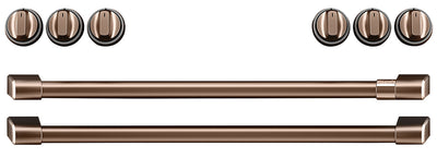 Café Induction Range Brushed Copper Knobs and Handles Set - CXFCHHKPMCU - Accessory Kit in Brushed Copper
