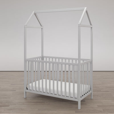 Little Seeds Skyler 3-in-1 Canopy Crib - Heirloom White |  Lit de bébé à baldaquin Skyler Little Seeds 3 en 1 - blanc héritage  |  D266DRFX