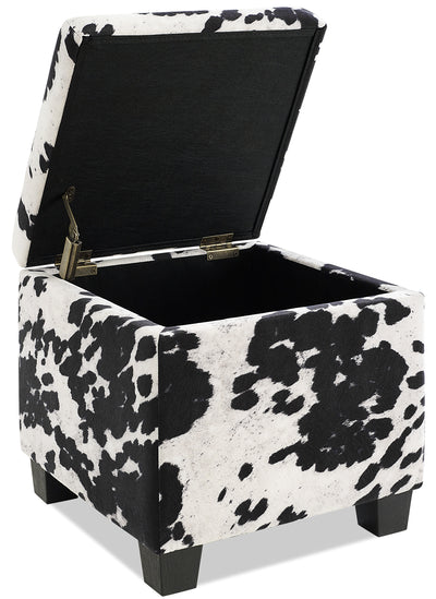 Dallas Cow Print Storage Ottoman