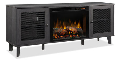 "Dean 65"" TV Stand with Log Firebox"