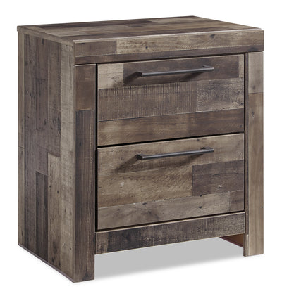 Derekson Nightstand - {Rustic}, {Contemporary} style Nightstand in Grey {Engineered Wood}, {Medium Density Fibreboard (MDF)}
