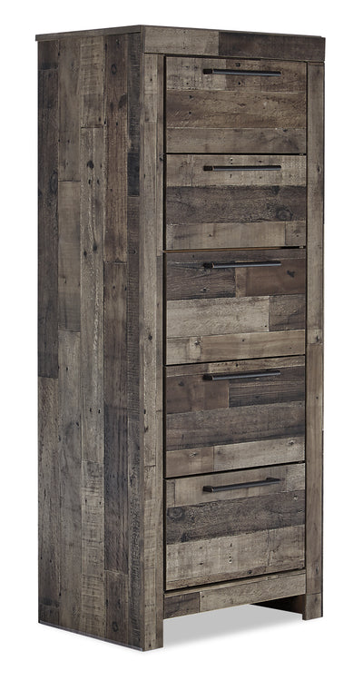 Derekson Lingerie Chest - {Rustic}, {Contemporary} style Chest in Grey {Engineered Wood}, {Medium Density Fibreboard (MDF)}