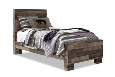 Derekson Twin Bed - {Rustic}, {Contemporary} style Bed in Grey {Engineered Wood}, {Medium Density Fibreboard (MDF)}