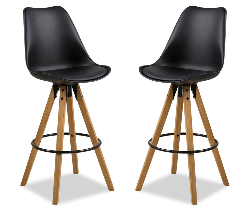 Dima Bar Stool, Set of Two - Black|Tabouret bar Dima, ensemble de 2 - noir