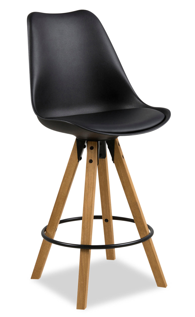 Dima Counter-Height Dining Chair - Black|Chaise de salle à manger Dima hauteur comptoir - noire