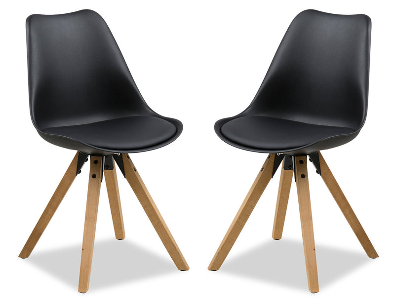 Dima Dining Chair, Set of Two - Black|Chaise de salle à manger Dima, ensemble de 2 - noire