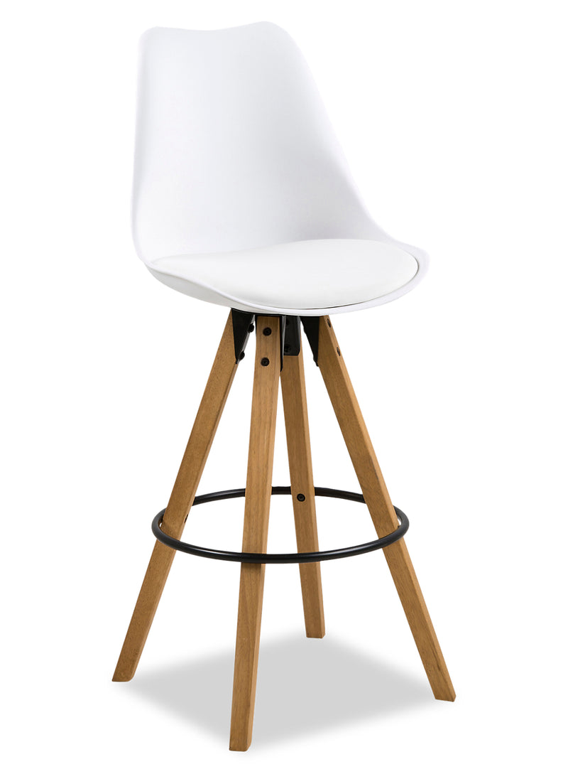Dima Bar Stool - White|Tabouret bar Dima - blanc