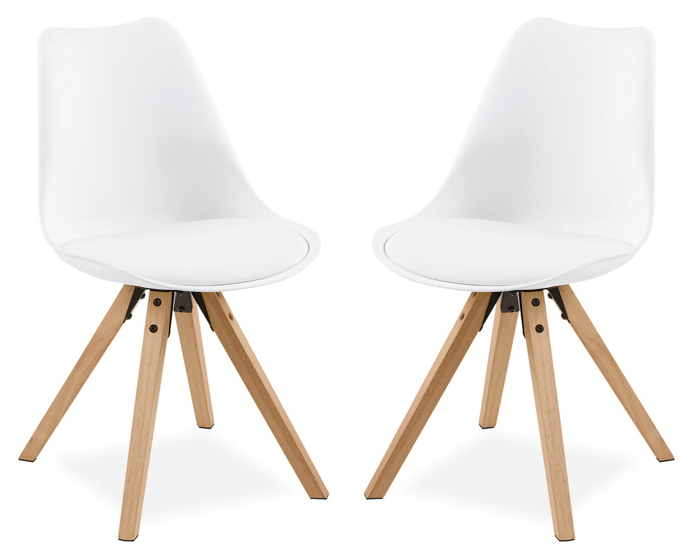 Fabulous Dima Dining Chair Set Of Two White Andrewgaddart Wooden Chair Designs For Living Room Andrewgaddartcom