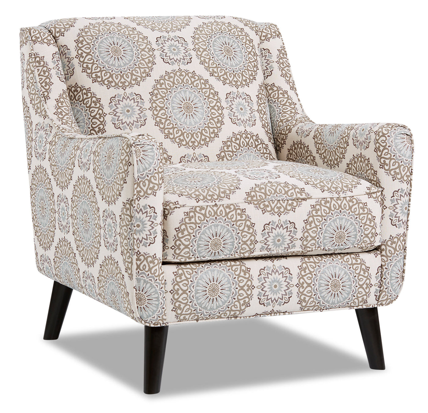 Dina Fabric Accent Chair Brianne Twilight The Brick