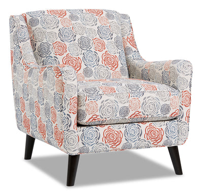 Dina Fabric Accent Chair - Palm Beach Lapis|Fauteuil d'appoint Dina en tissu - Palm Beach lapis|DINAPBAC