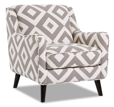 Dina Fabric Accent Chair - Square Charcoal|Fauteuil d'appoint Dina en tissu - carré anthracite|DINASCAC