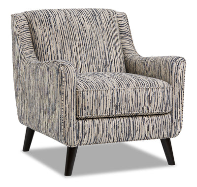 Dina Chenille Accent Chair - Local Colour Steel|Fauteuil d'appoint Dina en chenille - acier couleur locale|DINASTAC