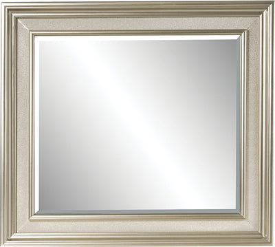 Diva Mirror - Glam style Mirror in Silver Hardwood Solids and Birch Veneers