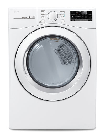 LG Front-Load Electric Dryer with Sensor Dry - DLE3090W - Dryer in White