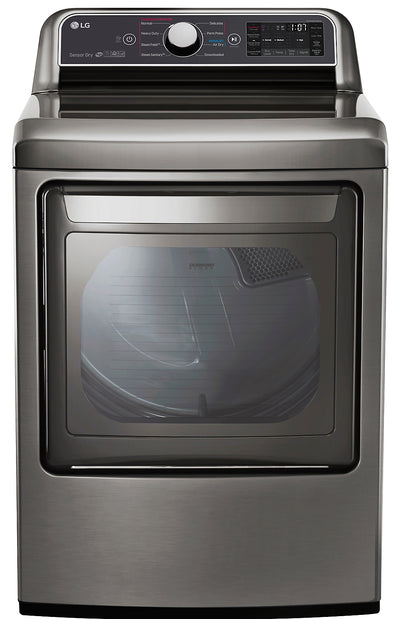 LG 7.3 Cu. Ft. Super Capacity Electric Dryer with EasyLoad™ - DLEX7300VE - Dryer in Graphite Steel