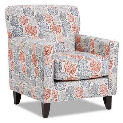 Dora Fabric Accent Chair - Palm Beach Lapis|Fauteuil d'appoint Dora en tissu - Palm Beach lapis|DORAPBAC