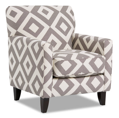 Dora Fabric Accent Chair - Square Charcoal|Fauteuil d'appoint Dora en tissu - carré anthracite|DORASCAC