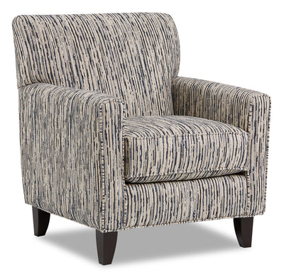 Dora Chenille Accent Chair - Local Colour Steel|Fauteuil d'appoint Dora en chenille - acier couleur locale|DORASTAC