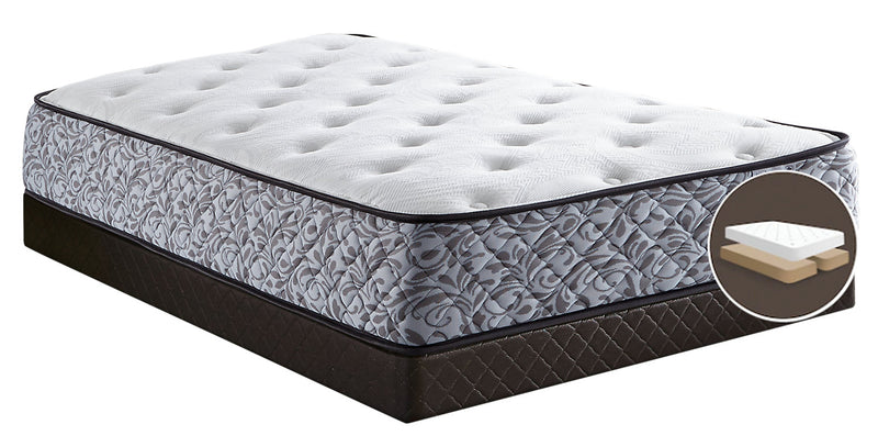 Springwall Dreams Queen Mattress-in-a-Box with Split Boxspring|Matelas dans une boîte à Euro-plateau et sommier divisé Dreams Springwall pour grand lit