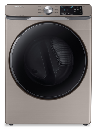 Samsung 7.5 Cu. Ft. Electric Dryer with Steam Sanitize+ - DVE45T6100C/AC - Dryer in Champagne