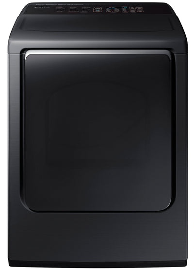 Samsung 7.4 Cu. Ft. Electric Dryer with MultiSteam™ - DVE54M8750V/AC - Dryer in Black Stainless Steel