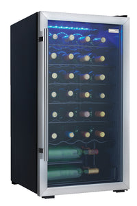 Danby Designer 3 3 Cu Ft 30 Bottle Wine Cooler