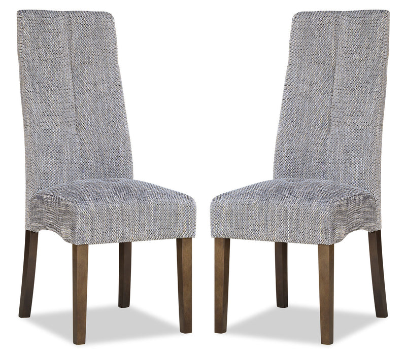 Maya Accent Dining Chair, Set of 2 – Grey|Chaise de salle à manger Maya, ensemble de 2 – grise|DY6088GP