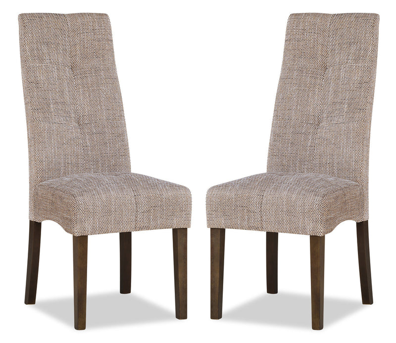 Maya Accent Dining Chair, Set of 2 – Beige|Chaise de salle à manger Maya, ensemble de 2 – beige
