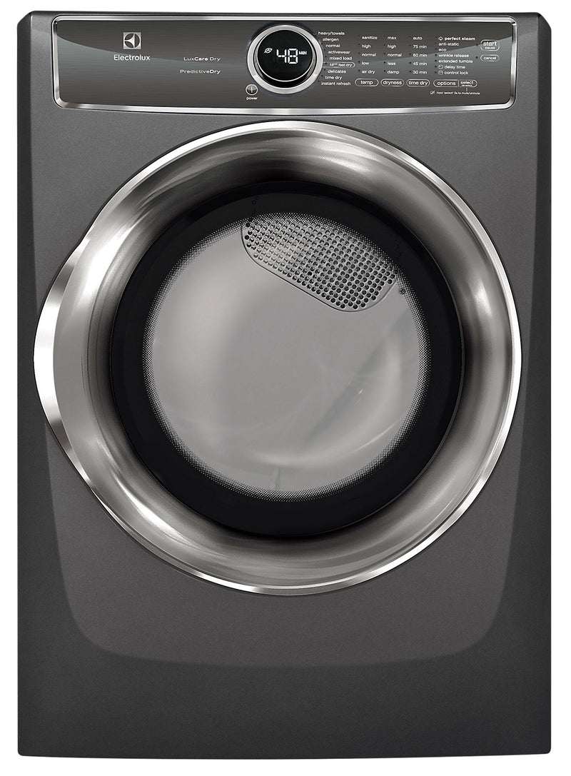 Electrolux 8.0 Cu. Ft. Front-Load Perfect Steam™ Electric Dryer with Instant Refresh – EFMC627UTT|Sécheuse électrique Electrolux chargement frontal 8 pi3 Perfect SteamMC Instant Refresh - EFMC627UTT