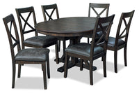 Emmy 7-Piece Dining Package – Charcoal