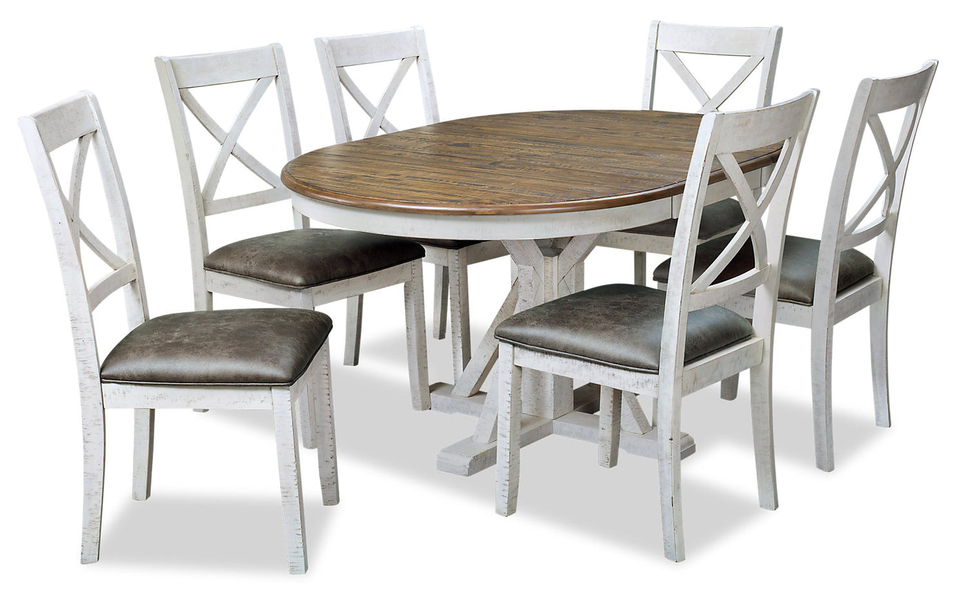 40afd13868f3 Emmy 7-Piece Dining Package – Antique white
